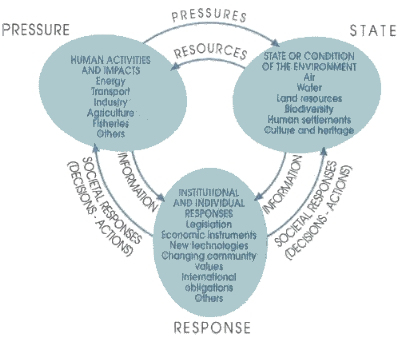 Linkages between the Pressure State Response Criteria for SOE reporting